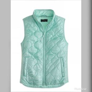 J Crew Quilted Layering Vest Mint Small #B8448
